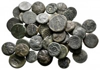 Lot of ca. 44 greek bronze coins / SOLD AS SEEN, NO RETURN!nearly very fine