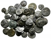 Lot of ca. 52 greek bronze coins / SOLD AS SEEN, NO RETURN!very fine