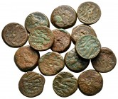 Lot of ca. 15 greek bronze coins / SOLD AS SEEN, NO RETURN! nearly very fine