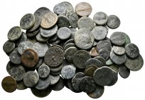 Lot of ca. 100 roman provincial bronze coins / SOLD AS SEEN, NO RETURN!nearly very fine