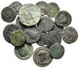 Lot of ca. 18 roman bronze coins / SOLD AS SEEN, NO RETURN! very fine