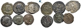Lot of ca. 6 roman bronze coins / SOLD AS SEEN, NO RETURN! very fine