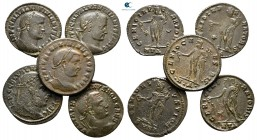 Lot of ca. 5 late roman bronze coins / SOLD AS SEEN, NO RETURN! very fine