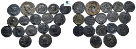 Lot of ca. 17 roman bronze coins / SOLD AS SEEN, NO RETURN!very fine