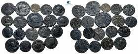 Lot of ca. 19 roman bronze coins / SOLD AS SEEN, NO RETURN!very fine