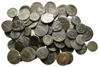 Lot of ca. 84 roman bronze coins / SOLD AS SEEN, NO RETURN!nearly very fine