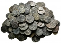 Lot of ca. 140 roman bronze coins / SOLD AS SEEN, NO RETURN!very fine