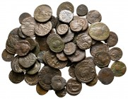 Lot of ca. 68 roman bronze coins / SOLD AS SEEN, NO RETURN!nearly very fine