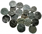 Lot of ca. 20 byzantine bronze coins / SOLD AS SEEN, NO RETURN!very fine