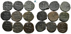 Lot of ca. 9 byzantine bronze coins / SOLD AS SEEN, NO RETURN!very fine