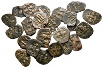 Lot of ca. 23 byzantine bronze coins / SOLD AS SEEN, NO RETURN!very fine