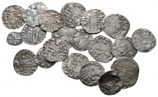 Lot of ca. 20 medieval silver coins / SOLD AS SEEN, NO RETURN!very fine