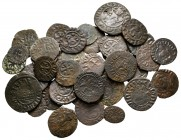 Lot of ca. 38 medieval bronze coins / SOLD AS SEEN, NO RETURN!very fine