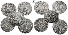 Lot of ca. 5 medieval silver coins / SOLD AS SEEN, NO RETURN!very fine