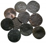 Lot of ca. 10 medieval copper coins / SOLD AS SEEN, NO RETURN!fine