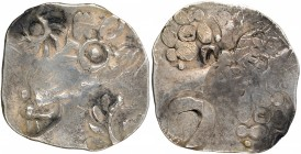 Punch Marked Silver Karshapana Coin of Vatsa Janapada.