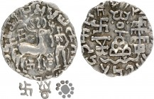 Silver Drachma Coin of Amoghbuti of Kuninda Dynasty.