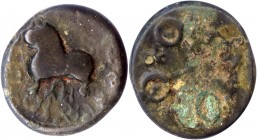 Alloyed Copper Coin of Siri Satakarni of Satavahana Dynasty.