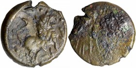 Bronze Coin of Shimhavishnu of Pallavas of Kanchi.