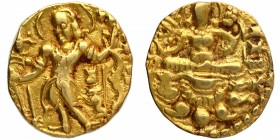 Gold Dinar Coin of Chandragupta II of Gupta Dynasty.