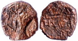 Copper Coin of Kumaragupta I of Gupta Dynasty of Garuda and Chhatra type.