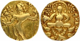 Gold Dinar Coin of Kumaragupta I of Gupta Dynasty.
