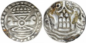 Silver Forty Eight Rattis Coin of Funan Kingdom of Burma.