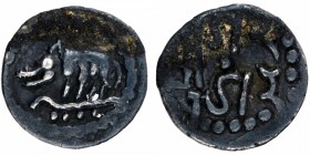 Silver Dramma Coin of Shri Gunatunga of Rashtrakutas.