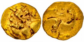 Gold Fanam Coin of Kadambas of Hangal.