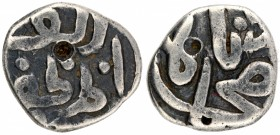 Silver One Sixth Tanka Coin of Muhammad Shah I of Bahmani Sultanate.