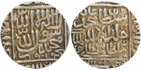Silver One Rupee Coin of Muhammad Adil Shah of Chunar Mint of Delhi Sultanate.