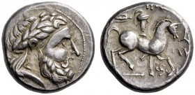 EASTERN EUROPE, Carpathian region - Northern Hungary. Late 3rd-2nd century BC. Tetradrachm (Silver, 22mm, 13.31 g 9), The 'Dreizack and Triskeles' typ...