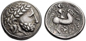 EASTERN EUROPE, Carpathian region - Northern Hungary. 2nd century BC. Tetradrachm (Silver, 22mm, 13.29 g 6), The 'Audoleon Type, triskeles variety'. L...