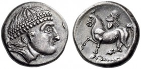 EASTERN EUROPE, Middle Danube Area. Uncertain tribe. 2nd century BC. Tetradrachm (Silver, 23mm, 12.39 g 12), The 'Kroisbach' type, with diadem and 'Re...