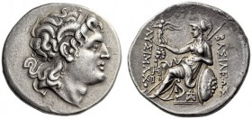 KINGS of THRACE, Lysimachos, 305-281 BC. Tetradrachm (Silver, 30mm, 16.89 g 2), Ainos, c. 283-282. Diademed head of Alexander III to right, ram's horn...