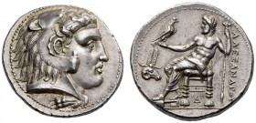 KINGS of MACEDON, Alexander III 'the Great', 336-323 BC. Tetradrachm (Silver, 26mm, 17.24 g 11), Memphis, c. 332-323. Head of Herakles to right, weari...