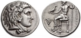 KINGS of MACEDON, Alexander III 'the Great', 336-323 BC. Tetradrachm (Silver, 25mm, 17.26 g 12), Memphis, c. 332-323. Head of Herakles to right, weari...
