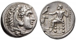 KINGS of MACEDON, Alexander III 'the Great', 336-323 BC. Tetradrachm (Silver, 25mm, 17.23 g 11), Damascus, c. 330-320. Head of youthful Herakles to ri...