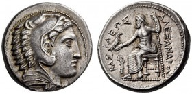 KINGS of MACEDON, Alexander III 'the Great', 336-323 BC. Tetradrachm (Silver, 25mm, 17.27 g 3), struck under Philip III, 'Amphipolis', uncertain mint ...