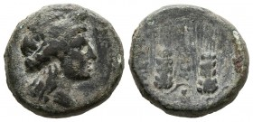 LUCANIA, Metapontion. Ae17. (Ae. 5,58g/17mm). 225-200 a.C. (Johnston 79; HN Italy 1715). MBC-.