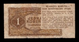 Czechoslovakia Flyer of Sedition 1 Korun 1953 Rare