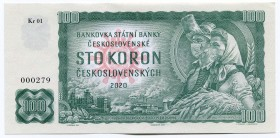 "Czechoslovakia 100 Korun 2020 ""COVID - 19""