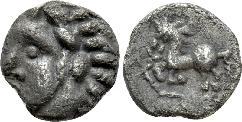 "CENTRAL EUROPE. Vindelici. Quinarius (1st century BC). ""Manching"" type. 