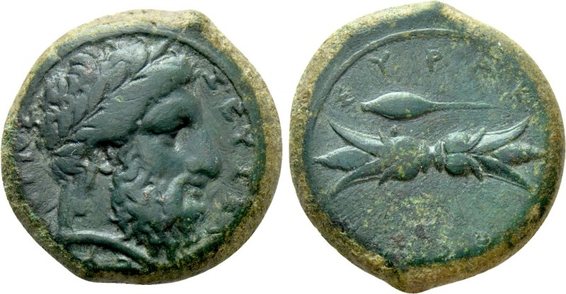 SICILY. Syracuse. Timoleon and the Third Democracy (344-317 BC). Ae Hemidrachm. ...