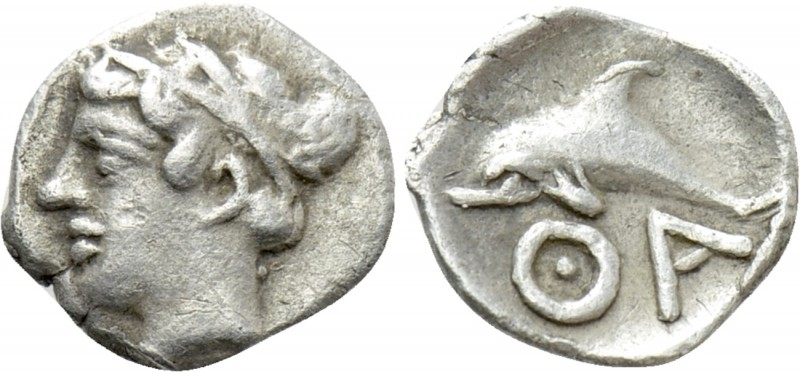 THRACE. Thasos. Hemiobol (Circa 400 BC). 