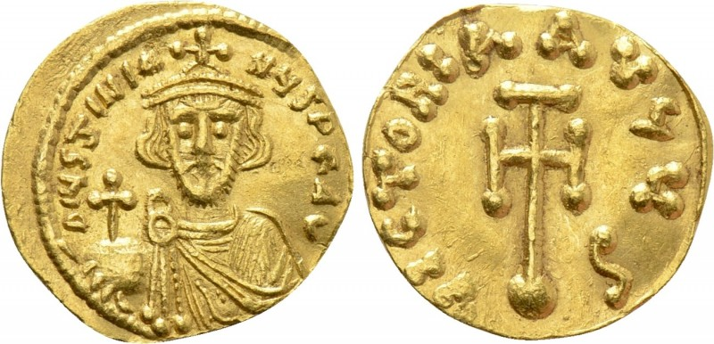 JUSTINIAN II (First reign, 685-695). GOLD Semissis. Constantinople. 