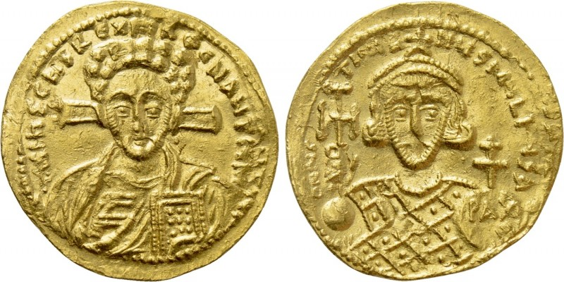JUSTINIAN II (Second reign, 705-711). GOLD Solidus. Constantinople. 