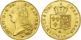FRANCE. Louis XVI (1774-1793). GOLD Double Louis d'or (1786-A). Paris.
