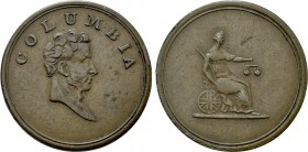GREAT BRITAIN. Farthing Token (1820-1830). Columbia.