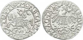 LITHUANIA. Sigismund August of Poland (1544-1572). Half Grosh (1558).